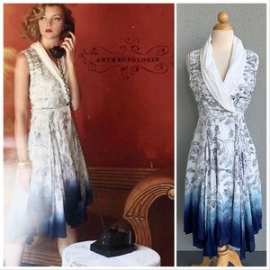 Anthropologie Approaching Blue Dress by AMPM Sz 2